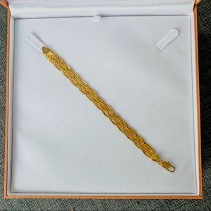 14k Solid Gold Vintage Style Braided Bracelet
